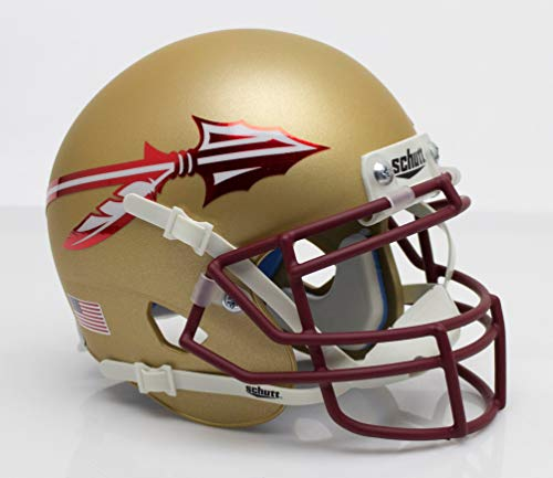 Schutt NCAA Florida State Calendoles Mini Authentic XP Fußballhelm, Unisex, NCAA Florida State Seminoles Mini Authentic XP Football Helmet, 2015 Alt. 3, Mini Florida State Mini Helm