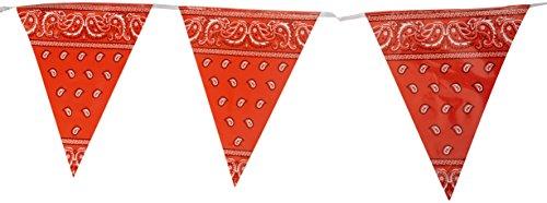 Beistle Bandana Pennant Banner, plastik, rot, Einheitsgröße
