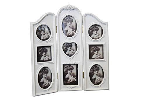 Marco de fotos marco blanco envejecido biombo de fotos barroco imágenes de pared
