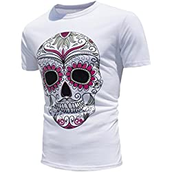 Fascinating T-shirt, Tefamore 2017 nuevos colores creativos del encuentro de Sun cambio de color de ocio de verano t shirt casual hombre (M, B)