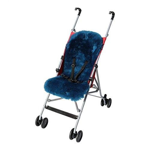 Lammfell - BUGGY Einlage Kinderwagen Felleinlage Baby Merino Schaffell Farbe Türkis