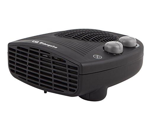 Orbegozo FH 5028 - Calefactor eléctrico con termostato ajustable, 2000 W de potencia, 2 posiciones de calor y función ventilador