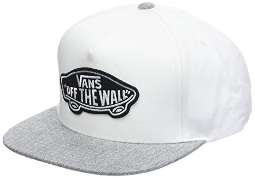 Classic Patch Snapback Baseball Cap, Weiß (White-Heather Grey G3Q), One Size ()