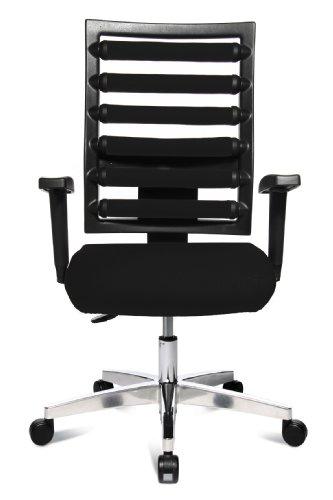 Topstar WO9TT200 Bürodrehstuhl Workout inklusive höhenverstellbare Armlehnen / Bezugstoff schwarz - 2