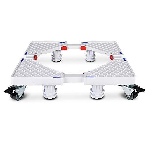 Movable Base Waschmaschine Roller Trolley, Waschmaschine Verstellbarer Rollenwagen Universal-Kühlschrank Beweglicher Sockel,8*(Fixed-Foot)+4*Brake(Double-Wheel)