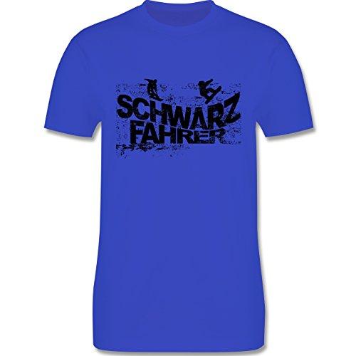 Après Ski - Schwarzfahrer Snowboard - Herren Premium T-Shirt Royalblau