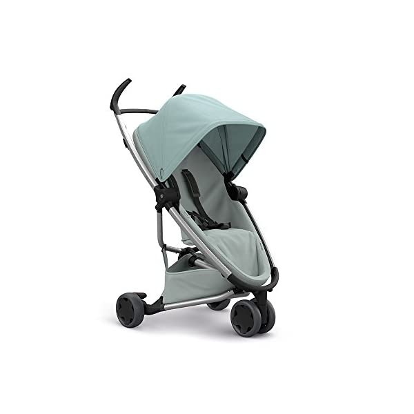 Quinny Zapp Flex Design 2018 Frost on Grey Quinny Flexible reversible seat in both Blick directions down to a horizontal lying position. Three Compact wheels - extremely manoeuvrable Classic Zapp handles - Super Strong Hold, easy to steer 1