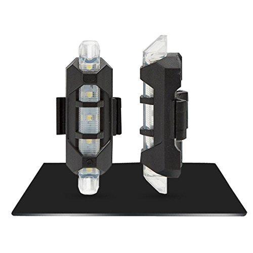 yagot 1pc USB aufladbare LED Fahrrad Licht wasserdicht vorne hinten Schwanz Warnblinkleuchte Leuchtenbauteile & Zubehör