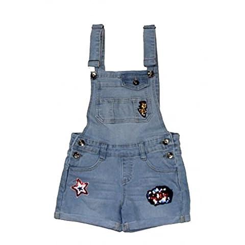 Fashion - Salopette en jean fille avec écussons Taille de