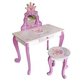 Kiddi Style Dressing Table, Legno, Pink, Bambino Piccolo, 11 unità
