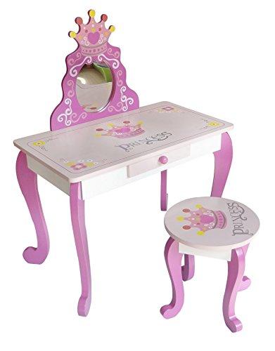 Kiddi Style Tocador Infantil Taburete Diseño Princesas