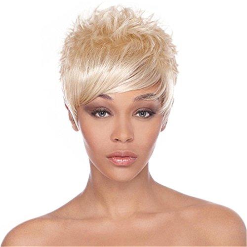 Meylee Perücken Kurzhaar Perücke blond , a