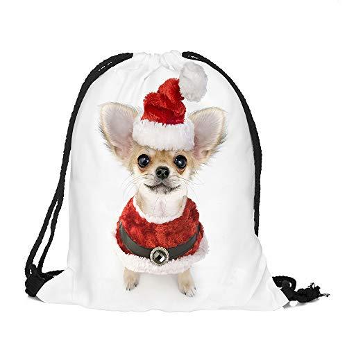 Frohe Weihnachten Weihnachten Kordelzug Binkou F, Malloom Frohe Weihnachten Süßigkeiten Tasche Satchel Rucksack Bundle Pocket Drawstring Aufbewahrungstasche