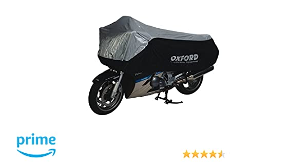 PIAGGIO VESPA LX125 Oxford Aquatex Waterproof Motorbike Silver Black Bike Cover