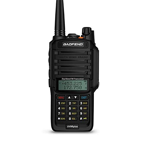 Bulary Baofeng UV-9R Plus Funksprechgerät CB Radio 8W Hochleistungs-VHF UHF Dualband Handfunkgerät 10km Reichweite Wasserdichter FM Protable Digital Transceiver Digital-8 Vhf-antenne