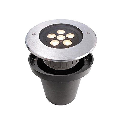 Spot extérieur encastrable de sol LED HP I, 220–240 V, 6 W, 20 °, IP67, blanc chaud 3000 K, acier inoxydable Argent, classe d'efficacité énergétique : A +