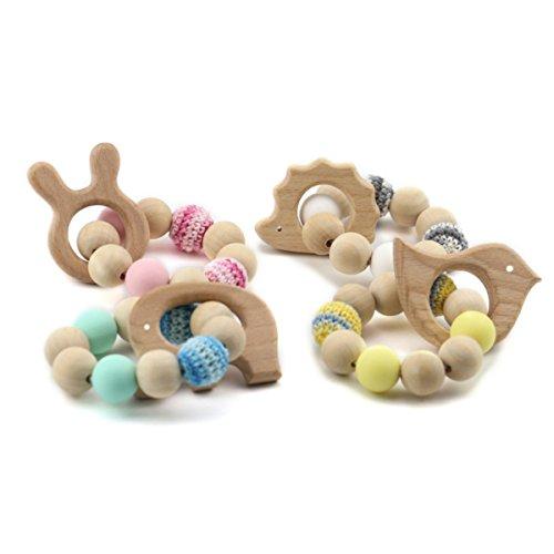 Best for baby Jouets en bois Bébé dentition Jouets en silicone Bijoux Accessoires d'allaitement Cadeau de douche Jouets faits à la main