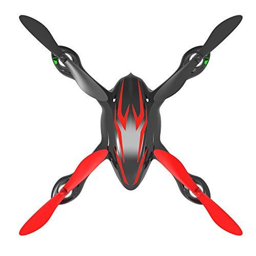 Hubsan Drohne H107C X4 Quadrocopter 2.4 Ghz 4 Kanal mit 480P Kamera (Rot Schwarz) - 6