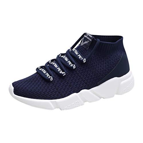 FeiBeauty Herrne Socken Schuhüberzug Mode Laufschuhe Schnür Sneaker Sport Fitness Turnschuhe Letter Elastic Running Sneakers Fitness Turnschuhe Mesh Sport Schuhe 39-44