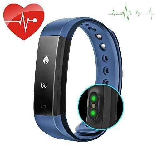 Fitness-Tracker von Torus Pro, dynamischer Pulsmesser, Schrittzähler und Kalorienzähler Dieses Fitness-Armband im Stil des Fitbit ist mit iPhones und Android-Smartphones kompatibel. Inklusive USB-Ladekabel und exklusivem Logo