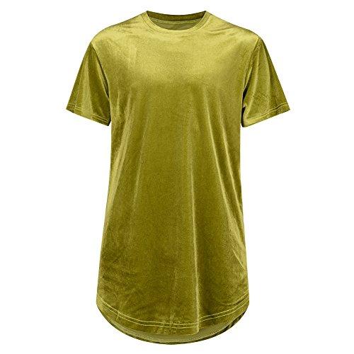 AOTUBON Herren T-Shirt Gelbgrün
