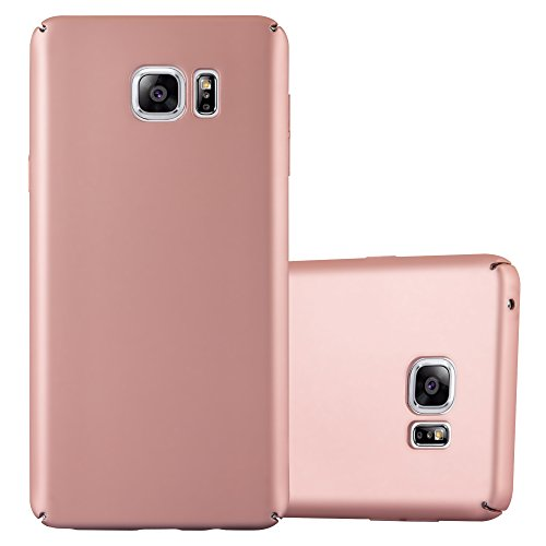 Cadorabo Hülle für Samsung Galaxy Note 5 - Hülle in Metall Rose Gold – Hardcase Handyhülle im Matt Metal Design - Schutzhülle Bumper Back Case Cover