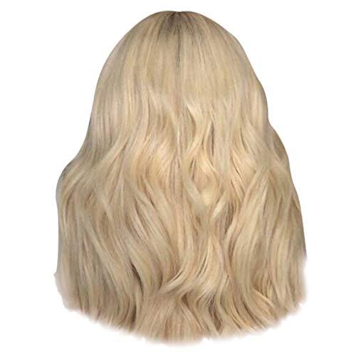 DOGZI Perücke Synthetik Perücke Hitzeresistente Perücken, Sexy Party Perücken Lange Welle Lockiges Haar Mischfarben Weiche Synthetische Perücke