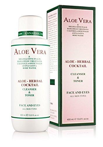 Aloe Vera de Canarias cosmétiques - Aloe-herbal Cockail nettoyage de la lotion et tonique 400 ml