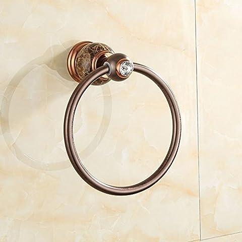 RY-Amerikanischen Kupfer natürlichen Jade braun Bronze Handtuch Ring Roségold Retro Zeichnung, Kaffee Netz Abschnitt