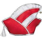 Amakando Elferrat-Mütze Narrenkappe / Rot-Weiß / Prinzenmütze Karneval / Genau richtig zu Prunksitzung & Straßenkarneval