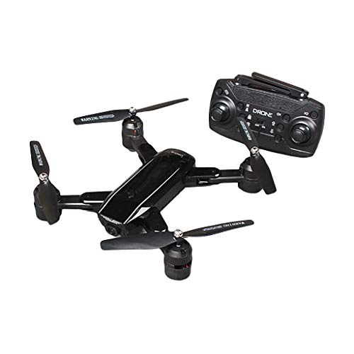 HKFV ZD5 Drone avec caméra HD 4K 2.4Ghz 4CH WiFi FPV Caméra Grand Angle Helicoptère Pochette Selfie Drone Double caméra Pliable, Altitude Hold Drone Pliant (Black)