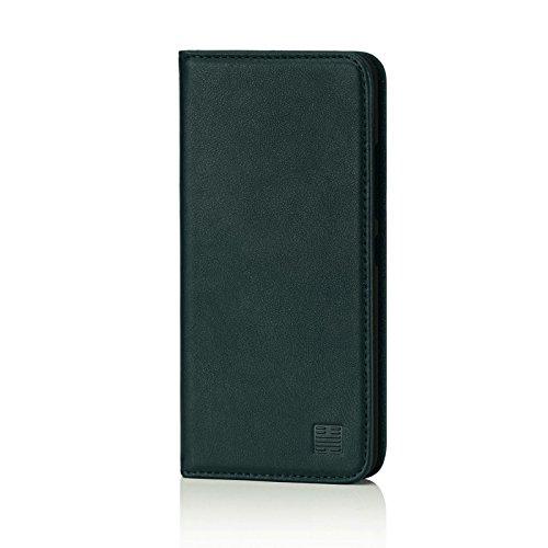 32nd Klassische Series - Lederhülle Case Cover für HTC U Ultra, Echtleder Hülle Entwurf gemacht Mit Kartensteckplatz, Magnetisch und Standfuß - Jägergrün