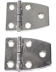 Charnière inox 51x38mm Epaisseur 1.2mm ( Lot de 2 )