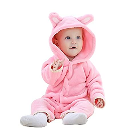 MICHLEY Baby Romper Girls Boys Bear Style Jumpsuit Autumn&Winter Clothing Unisex (80cm(5-12month),