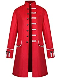 SHOBDW Hombres Cardigans Talla Grande Invierno Cálido Sólido Stand Collar  Vintage Tailcoat Chaqueta Rompevientos Abrigo Outwear 784688d010edd
