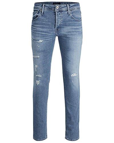 JACK & JONES Herren Jeans/Slim Fit Jeans jjItim jjOriginal Blau W 33 L 32 -