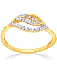 Malabar Gold & Diamonds 18KT Yellow Gold And Diamond Ring For Women
