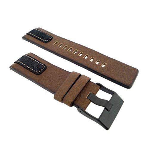 Diesel Uhrband Wechselarmband LB-DZ4305 Original Ersatzband DZ 4305 Uhrenarmband Leder 26 mm Braun
