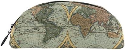 Bennigiry carte du du du monde en demi-cercle Trousse, DE Grande capacité papeterie Pen Sac pochette avec fermeture Éclair Box Office Organiseur de voyage maquillage Sac | De La Mode  3b0bce