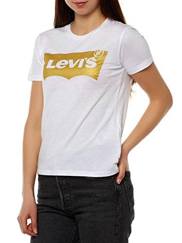 Levi's Damen T-Shirt, The Perfect Tee, Weiß,  Gr. S
