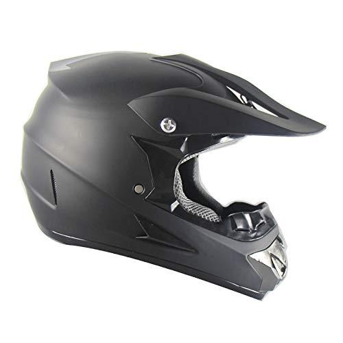 WSYY-helmet Casco MX Motocross Casco MX Casco Moto Casco ATV Road Racing D.O.T Fox Green Certificato con Guanti Maschera Antivento,Black,L