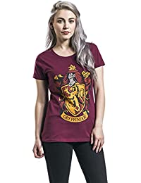 Harry Potter Gryffindor Crest T-shirt Femme bordeaux