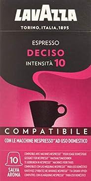 Lavazza Cápsulas de Café Compatibles Nespresso Espresso Deciso, Paquetes de 10 x 10 Cápsulas (Total: 100 Cápsu