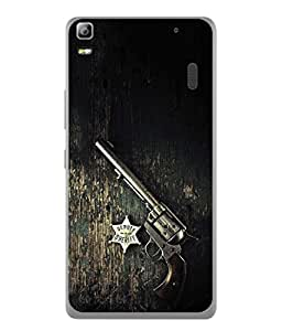 PrintVisa Designer Back Case Cover for Lenovo K3 Note (Black revolver Deputy Sheriff sign)