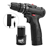 ‏‪Extaum 18V Multifunctional Electric Impact Cordless Drill High-power Lithium Battery Wireless Rechargeable Hand Drills Home DIY Electric Power Tools‬‏