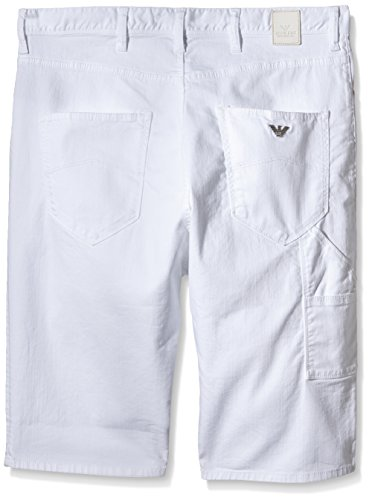 Armani Jeans Herren Shorts C6s01nb Weiß (BIANCO - WHITE 10)