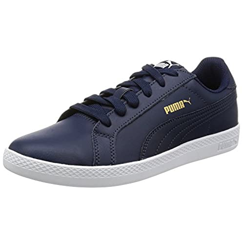 Puma Basket Platform Patent, Sneakers Basses Femme, (Peacoat-Peacoat), 38 EU