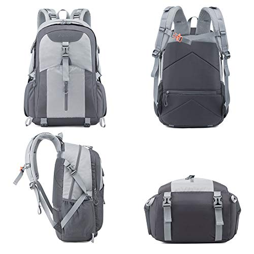 41 Vsex0zsL. SS500  - Casual Backpack, Water Resistant Slim Lightweight Laptop Rucksack For Men/Women, Large Travel/Hiking/Cycling Daypacks With Earphone Hole, College/High School Bags For Boys/Girls -32L, Grey