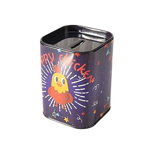 Hunpta Métal Candy Boîte à bijoux Bijoux fer Tirelire pièce de monnaie de stockage boîte carrée Coque