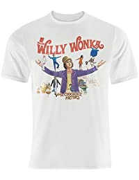 Mens Classic Willy Wonka And The Chocolate Factory Movie Poster T-shirt